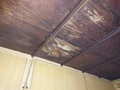 雨漏りした天井