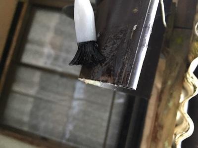 樋の復旧作業