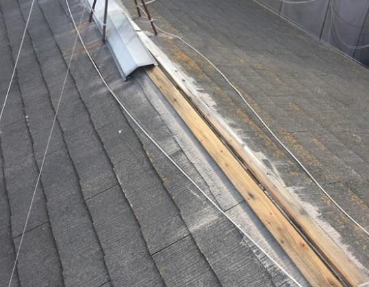 台風 棟板金 屋根