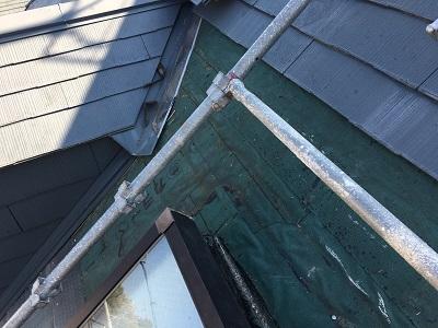 スレート屋根材はがし
