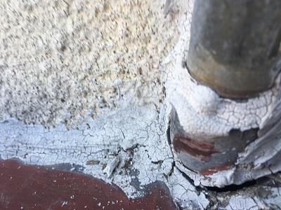 ガス管周りのコーキングの劣化