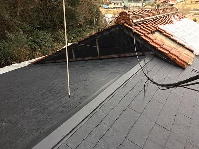 屋根の掃除完了