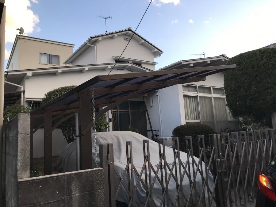広島市佐伯区にてカーポートの波板貼替工事を行いました