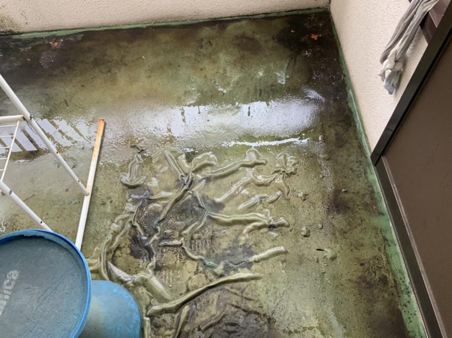 広島市バルコニーシート防水の状態