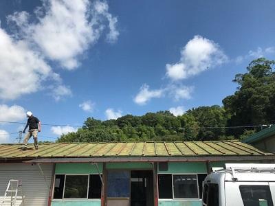 廿日市市 カバー工法での屋根工事の現地調査に伺いました