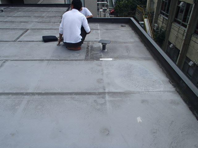 現地調査 陸屋根シート防水