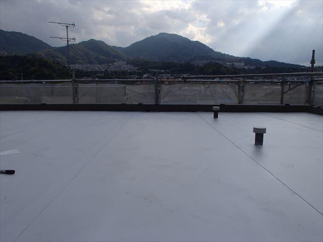 陸屋根シート防水工事施工後