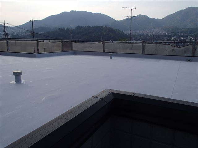 陸屋根のシート防水施工後