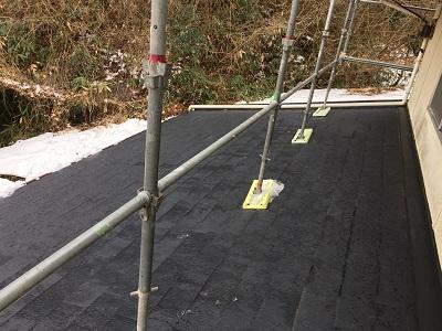 屋根の雪かき完了