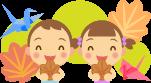 広島名物、もみじ饅頭、折り鶴